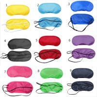 Sleeping Eye Mask 13 Colors Polyester Eye Cover Breathable shading Eyeshade Travel Eye patch C5527