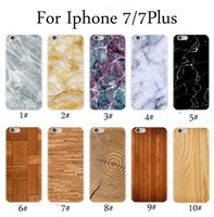 Wholesale Wood Skin Iphone Case - Marble Pattern Phone Case Skin Wood Grain TPU Cover For Iphone X 8 7 6 Plus Painted Phone Case