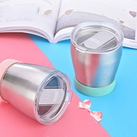 Wholesale Green Eco Walls - 300ml Kids Stainless Steel Thermos Bottle Stainless Steel Double Wall Vacuum Water Bottle Drinkware Baby Training Mug with Lid