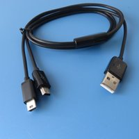 питательный кабель для сплиттера usb оптовых-1m 3ft Dual Mini USB Splitter кабель питания 2 мини USB устройства сразу