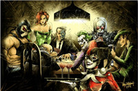 Wholesale Poker Decorations - Joker Harley Quinn Playing Poker Home Decor diy diamond Painting 5d diamond embroidery full square diamond canvas