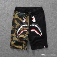 Wholesale men shorts pants legging - Newest Summer Men's Shark Shorts Cotton Camo Causal Shorts Men Casual Camouflage Skateboard Short Pants Loose Streetwear