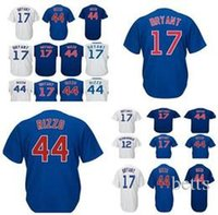 Wholesale cycling jersey gray - 2018 Kris Bryant Mens Jersey White Gray Blue Anthony Rizzo Javier Baez Kyle Schwarber
