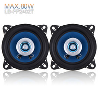 Wholesale Audio High End Speakers - DHL FREE 2pcs 4 Inch 80W High-End Car Coaxial Speakers 2-Way Car Audio Speakers Coaxial Speaker CAU_401
