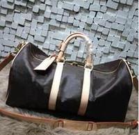 laptop duffel tasche männer großhandel-Luxus Männer Frauen Tasche Schultaschen PU Leder Mode Berühmte Designer Frauen Reisetasche Seesack Laptoptasche