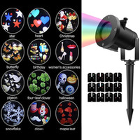 Wholesale wall projectors for sale - Group buy led wall decoration laser light LED RGB colour pattern card change lamp Projector Showers led laser light for holiday