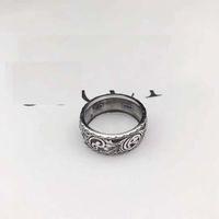 925 silberne koreanische ringe großhandel-Hohe Qualität 925 Sterling SilberJapanisch-koreanische Mode Marke Ring Silber Liebhaber Männer British-Stil Vintage alten Ring Ring