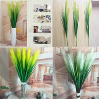 ingrosso erbe di seta-Fiori artificiali 120 cm 2 Teste Seta Reed Erba Casa Creativa Festa Nuziale Ufficio Favore Decorazione Piante Finte GGA466 40 PZ