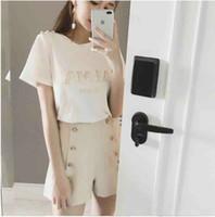 bluz fiyatları toptan satış-Düşük Fiyat Lüks Avrupa Paris Yüksek İşbirliği Coco Graffiti Perakende T-shirt Moda Erkekler Bluzlar Kadın T-shirt Rahat Pamuk Bluz Üst