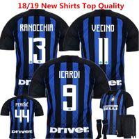 Wholesale inter milan home short for sale - Group buy Soccer Jerseys Inter Football Shirts Milan Icardi camisetas de futbol Perisic Ever Banega J mario Home maillot de foot Shirt by DHL