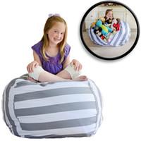 bebek bebek çantası toptan satış-5 Renkler 18 inç Ev Depolama Fasulye Torbaları Beanbag Sandalye Çocuk Odası Dolması Hayvan Organizatör Çantası Peluş Oyuncaklar Bebek Oyun Mat KKA1205 50 adet