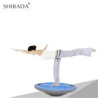 Wholesale balance board blue resale online - SHIBADA cm Fitness Non slip Round Balance Board Wobble Board Balance Plate Sports Training Exercise Equipment Body Sculpting