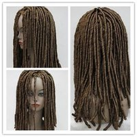 Wholesale masquerade hair braiding resale online - HIP HOP Reggae Black Dreadlocks Wig Masquerade Braids Cosplay Party Wig Hair