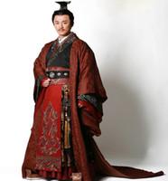 vestidos do baile de finalistas da cópia do chinês venda por atacado-HanFu High end qualidade Antiga China Príncipe Imperador Traje Outfit New TV Play Filme Vestuário Hanfu Bordado Dragon 'Party Cosplay
