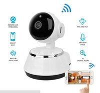 Wholesale Security Box Camera Wifi - Pan Tilt Wireless IP Camera WIFI 720P CCTV Home Security Cam Micro SD Slot Support Microphone P2P Free APP ABS Plastic with retail box