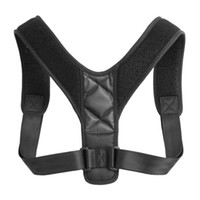 corsés arriostrados al por mayor-Corrector de Postura Ajustable Brackets Support Body Corset Back Belt Bracer Hombro para Hombres Care Health Posture Band