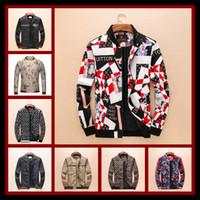 Wholesale hooded wool jackets - 2018 Italy Luxury Brand Windbreaker Tiger Medusa Snake Floral Print Jackets Men Casual Long Sleeve Outerwear Hooded Jackets Coats M-3XL