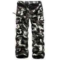 ingrosso pantaloni dell'esercito invernale-2016 Army Inverno Moda uomo pantaloni Uomini Big camuffamento dei pantaloni caldi degli uomini in pile casuali del carico rigonfio tattici