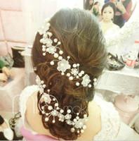 koreanische hochzeitsfotos großhandel-Korean Bräute Headwear, Perlen Brautkleid Zubehör, Hochzeitsaccessoires, Fotostudio Modellierung
