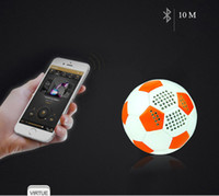 Wholesale ball mp3 - World Cup Music LED Colorful Football Bluetooth Speaker Portable Soccer wireless Subwoofer Anti-drop PU Leather Colour Lights roly-poly ball