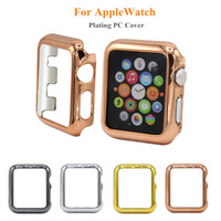Wholesale apple watch case online - For Apple Watch Cover Case Hard PC Plating Screen Scratch Protective Case Four Colors for iWatch mm mm