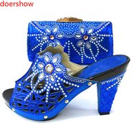 65ea188a6 Sapatos combinando italiano e conjunto de saco Sapato de casamento africano  e conjunto de saco Itália sapato e bolsa conjunto de verão mulheres KM1-1