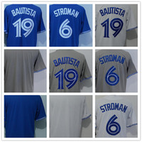 Wholesale Base Blank - 2018 Men's T Blue Jays 6 Marcus Stroman 19 Jose Bautista Blank White Grey Blue Cool Base Baseball Jerseys Wholesale Top Quality All Stitched