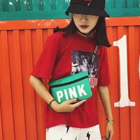 Wholesale red pink bags little for sale - Pink shoulder bag Pink Letter Little sling bag Women fashion Outdoor Cosmetic Bag