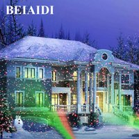 luz láser roja de jardín al por mayor-BEIAIDI Green Red Christmas Laser Light Outdoor Sky Star Lámpara de proyector láser Home Garden Landscape Star DJ Diso LED Lámpara de escenario