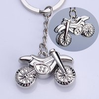 Wholesale metal scooters - Metal Motorcycle Key Ring Bike Scooter Keychain Cute Creative Gift Wedding Birthday Party Favor Souvenirs ZA6924