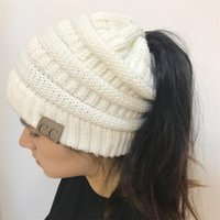 ... Winter Caps CC Ponytail Beanie Women Hat Skullies Beanies Female Knit  Warm Caps Stylish Hats For ... d1cd8ea3d8be