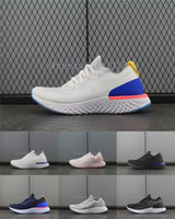 Wholesale green lifestyle - Women Running Shoes Epic React Fly Knit Trainers Mens Sports Training Running Shoes Fashion Racing Runner Lifestyle Skateboarding Shoe
