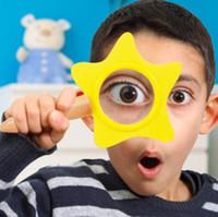 Wholesale reading magnifiers - Kids Toy Cute Star Magnifier Glasses Acrylic Lens Magnifying For Children Outdoor Adventure Kindergarten Teaching AIDS