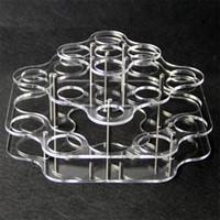 titular de líquido vape al por mayor-exhibición de acrílico titular vaporizador rack caso muestran estantería posición clara para botellas de vidrio 21pcs 30ml 60ml de plástico ae botella de líquido eJuice