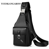 мужские сумки для слинга оптовых-Summer  Men's Chest Bags Leather Crossbody Sling Shoulder Bags For Men Casual Travel Messenger Bag Anti-theft Chest Pack
