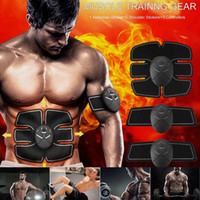 Wholesale Abdominal Belts - Abdominal Muscle Training Stimulator Device Home Fitness Beauty Gear Wireless EMS Belt Gym Professinal Body Slimming Massager