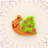 Wholesale Magnetic Stickers For Kids - Cute snail Fridge Magnets For Kids Decorative Refrigerator Magnets Cheap Small Magnetic Sticker On The Fridge