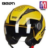 kask büyüklüğü s toptan satış-B-216 ABS yarım yüz kask açık yüz motobike kask XS S M L XL içinde ECE belgelendirme ISO9001 boyutu ile