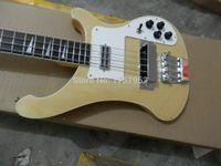 guitarra electrica color madera natural al por mayor-Tienda de encargo de la fábrica 2015 más nuevo RICK 4 cuerdas 4003 color de madera natural bajo eléctrico envío gratis 3dfg