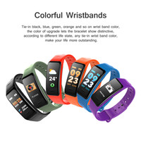 Wholesale measurement meter - Smart bracelet C1s Color screen Waterproof wristband heart rate monitor Blood pressure measurement Fitness tracker band