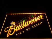 Wholesale led budweiser signs - LA002- Budweiser Beer Bar Pub Club NEW LED Neon Light Sign home decor shop crafts