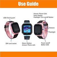 lb de iluminação venda por atacado-Esporte bonito Q528 Crianças Rastreador Relógio Inteligente com Flash de Luz Touchscreen SOS Chamada LBS Localizador de localização para o miúdo Criança PK Q50 rastreador GPS DHL 30 pc