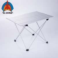 Wholesale indoor bbq resale online - EL INDIO Aluminum Folding Collapsible Camping Table Roll up with Carrying Bag for Indoor and Outdoor Picnic BBQ Beach Hiking Travel Fis
