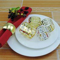 guardanapo do partido chinês venda por atacado-100 pcs guardanapo anel de guardanapo de ouro anel de prata chinesa guardanapo de parede anel ocidental toalha de jantar anel de decoração de festa decoração de mesa
