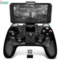 juegos bluetooth android al por mayor-Gamepad inalámbrico original de Ipega 9076 Bluetooth con el receptor sin hilos de Bluetooth 2.4G Apoye al jugador de la consola del juego de Android ios