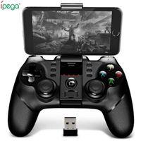 ipega android venda por atacado-Original Ipega 9076 Bluetooth Gamepad sem fio com Receptor Suporte 2.4G sem fio Bluetooth Android Game Console do Jogador