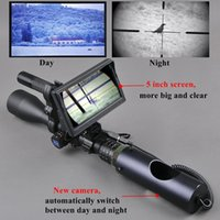 fb00352ab3 Lunette de vision nocturne lunettes de chasse en plein air optique vue  tactique infrarouge numérique avec moniteur de batterie et lampe de poche
