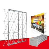 sergi standları toptan satış-Düğün için alüminyum Çiçek Duvar Katlanır Standı Çerçeve Arka Planında Düz Banner Sergi Ekran Standı Ticaret Reklam Gösterisi