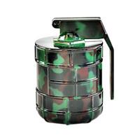 moulins à grenade achat en gros de-Fumeur Dogo Dernières Alliage de Zinc Grenade Camouflage Herb Grinder Magnietic 3 pièces Broyeurs De Tabac En Métal Pour Fumer