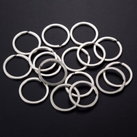 Discount silver circle key ring - 100pcs Lot 30MM Flat Split Ring Iron Silver Antique bronze Key Rings Circle for Keychain DIY Making Finding Accessories Connector Wholesale